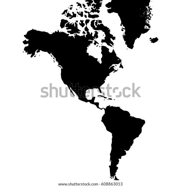 North South World Map