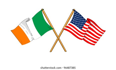 America and Republic of Ireland alliance and friendship