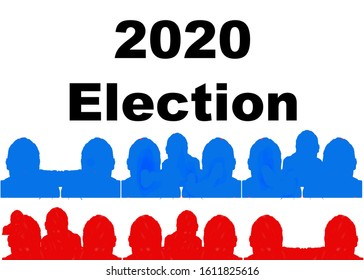 American 2020 Election Banner or flyer Brochure