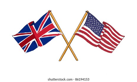 American and British alliance and friendship
