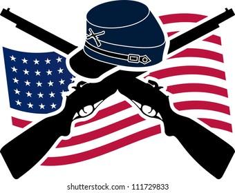 American Civil War. Union. raster variant