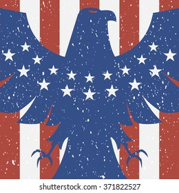 American eagle background in flag colors
