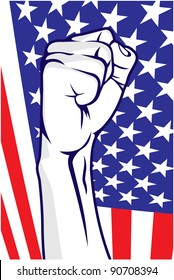 American fist.  Vector format is also available in my gallery