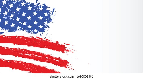 American flag, abstract American flag  Vector, USA flag, July 4th,
