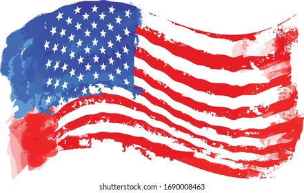 American flag, abstract American flag  Vector, USA flag, July 4th,