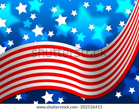 American Flag Background Meaning National Proud Stock Illustration