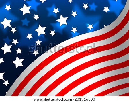 american flag banner meaning states america stock illustration