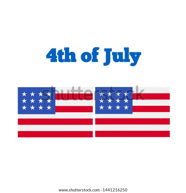 American Flag Clip Art Celebrate Independence Stock