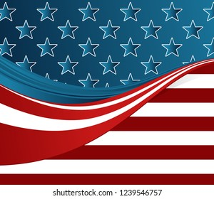 American flag concept background