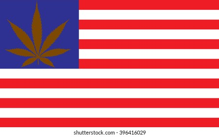 An American flag design with a marijuana leaf replacing the stars for your holiday needs be it the fourth of July, Memorial day, veterans day, news years or any other holiday