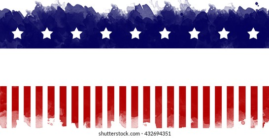 American flag grunge greeting card background