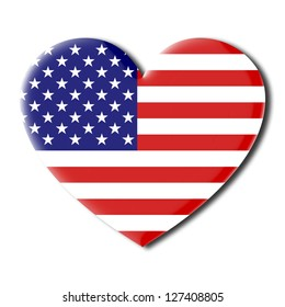 American flag heart shaped