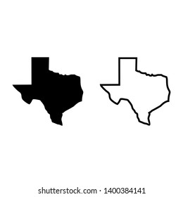american flag icon maps texas