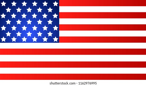 American Flag for Independence Day. illustration