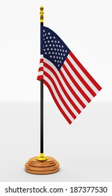 American Flag  office  on White Backgrounds