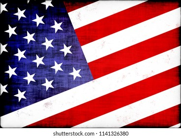 American flag textured composite, size A4