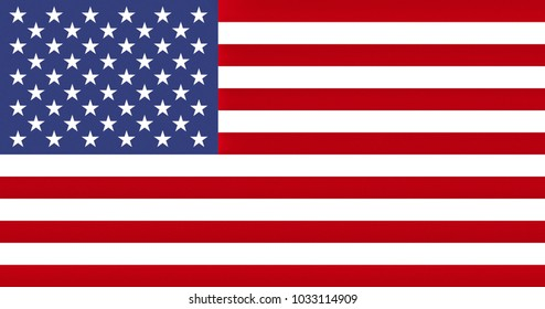 AMERICAN FLAG OF THE UNITED STATES OF AMERICA - PROPORTIONS: 1.9:  1 - Colors:  White, Old Glory Red, Old Glory Blue, texturised