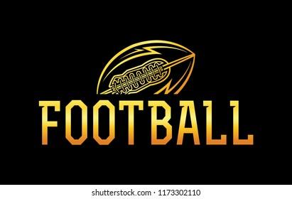 An American football ball icon illustration.