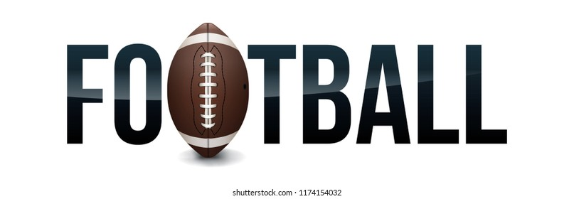 An American football and ball word are theme illustration.