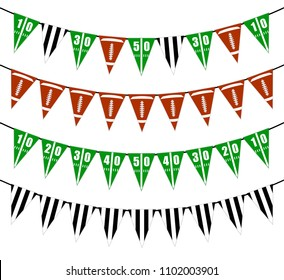 American football bunting flags decoration can be used for game day party, player birthday, banner etc