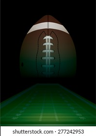 American football and field background illustration.