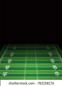 An American football field background with room for copy.