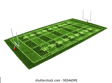 American football field isolated on white background