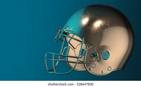 American football helmet on various material and background