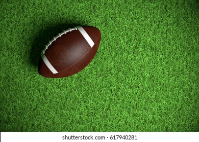 American Football on the Field 3d render