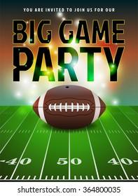 American Football Party Invitation Illustration