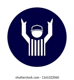american football referee icon in badge style. One of american football collection icon can be used for UI, UX on white background
