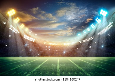 american football stadium. Mixed photos