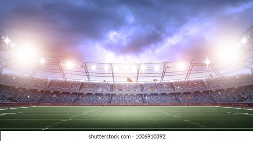 American football stadium,3d rendering