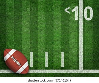 American Football with Yard Line on American Football Field. sport background