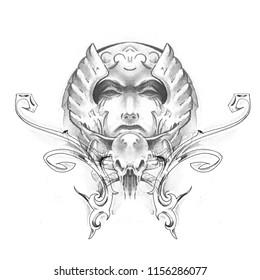 american indian , handmade tattoo drawing