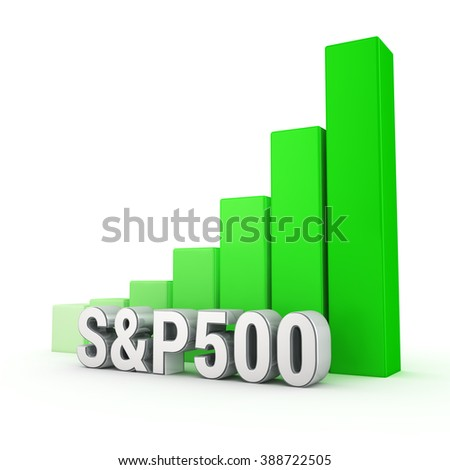 American Main Index Grows Word Sp 500 Stock Illustration 388722505
