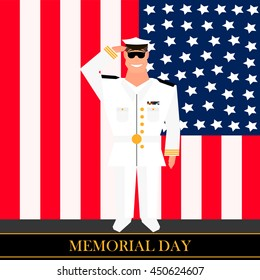 American military officer salutes