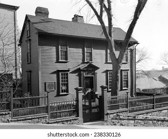 The American Revolution. Stephen Hopkins House, Providence, RI. Built ca. 1708, photo 1958.
