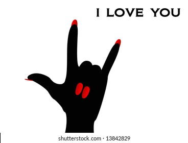 American Sign Language sign I Love You
