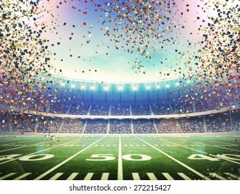 American stadium confetti