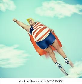 American superhero, 3d rendering