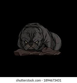 Americanbully logo dog pitbull