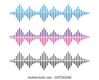 Amplitude waves. Music sound voice wave. Dynamic equalizer