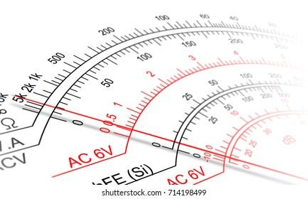 Analog Multimeter Scale Stock Illustration 714198499 Shutterstock