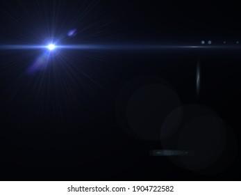 an anamorphic lens flares overlay