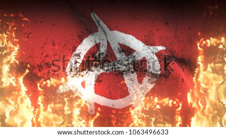 Anarchy Symbol White Red Grunge War Stock Illustration 1063496633