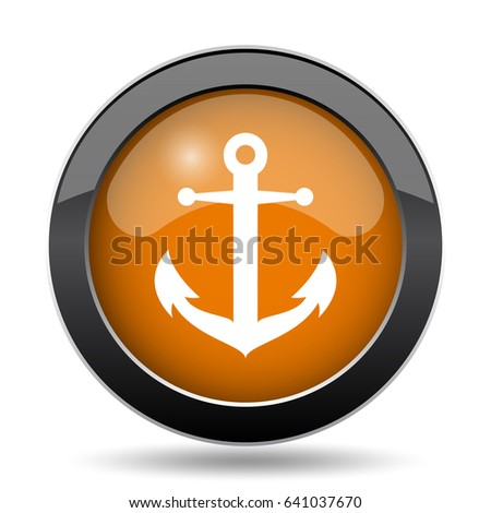 Anchor Icon Anchor Website Button On Stock Illustration