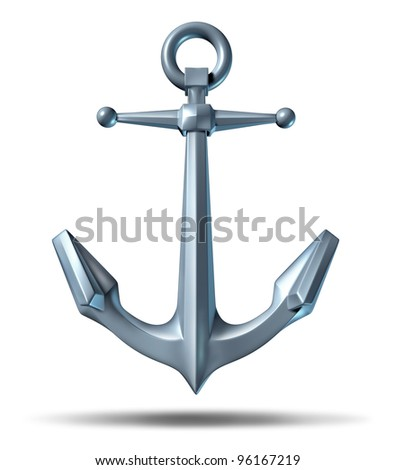 Royalty Free Stock Illustration Of Anchor On White Background Metal
