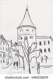 ancient centre of Riga, capital of Latvia, Powder tower