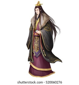 Ancient Chinese People Artwork: Rich Young Man, Prince. Video Game's Digital CG Artwork, Concept Illustration, Realistic Cartoon Style Background and Character Design